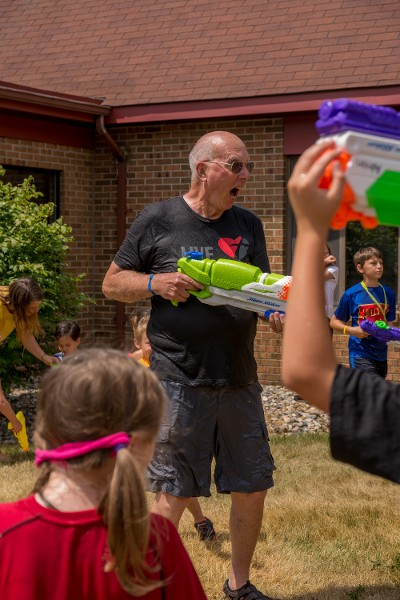 Action Father With Water Gun