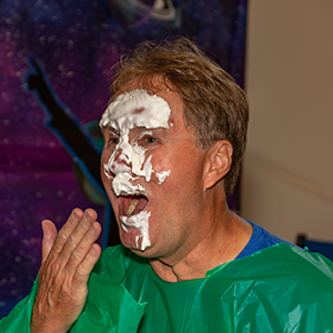 Man with Whipped Cream on Face